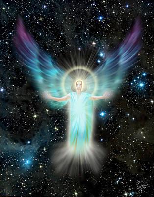 Digital Art - Archangel Uriel by Endre Balogh