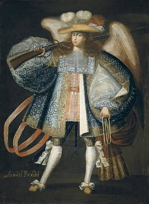 Archangel With Gun. 18th C. Painting Art Print by Everett
