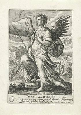 Archangel Zaphkiël, Crispijn Van De Passe Art Print
