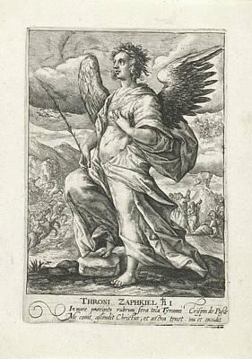 Archangel Zaphkil, Print Maker Crispijn Van De Passe Art Print by Crispijn Van De Passe I