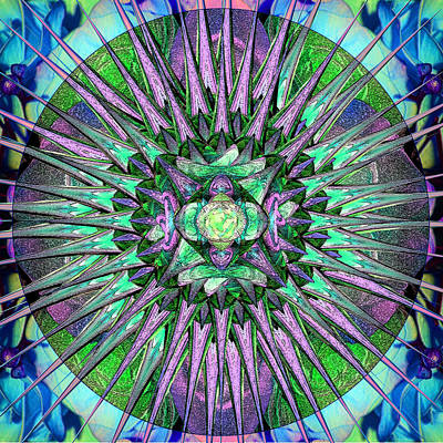 Digital Art - Archangels Gather Mandala by Michele Avanti