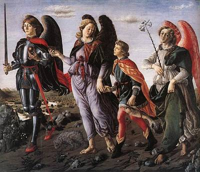 Archangels With Tobias Art Print by Renaissance Master