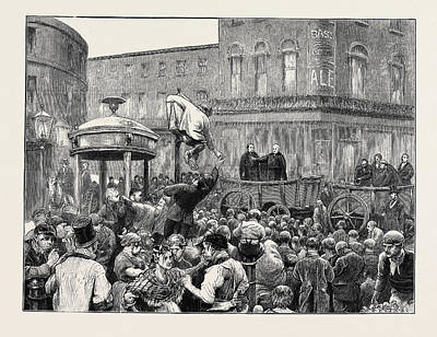 Manning Drawing - Archbishop Manning Administering The Pledge On Clerkenwell by English School