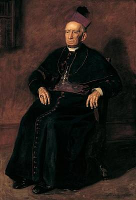 Full-length Portrait Photograph - Archbishop William Henry Elder, 1903 Oil On Canvas by Thomas Cowperthwait Eakins