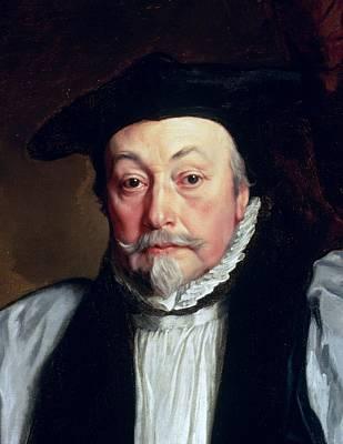 Beheaded Painting - Archbishop William Laud C.1635-37 by Sir Anthony van Dyck