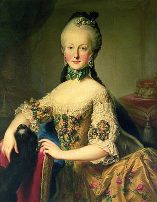 Choker Photograph - Archduchess Maria Elisabeth Habsburg-lothringen 1743-1808, Sixth Child Of Empress Maria Theresa by Martin II Mytens or Meytens