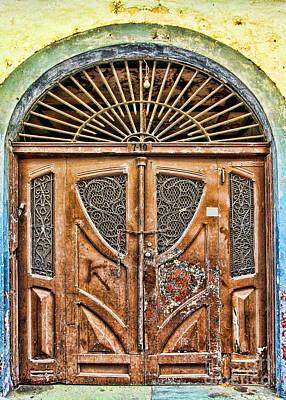 Photograph - Arched Door In El Casco By Diana Sainz by Diana Raquel Sainz