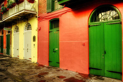 Yellow Photograph - Arched Doors Of Pirates Alley by Chrystal Mimbs