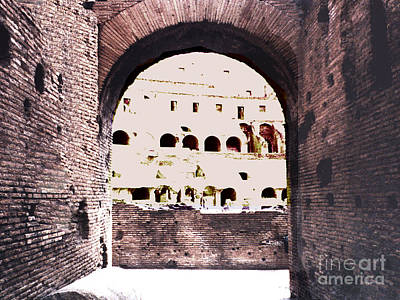 Photograph - Arched Entrance Into The Coliseum In Rome by Merton Allen