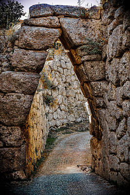 Photograph - Arched Medieval Gate by Dany Lison