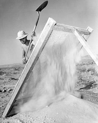 Work Tool Photograph - Archeologist At Work by Underwood Archives