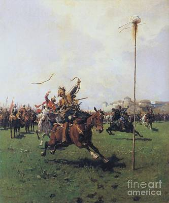 Contest Painting - Archery by Pg Reproductions