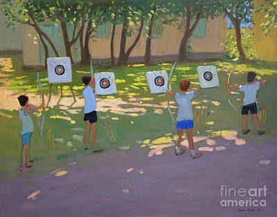 Painting - Archery Practice  France by Andrew Macara