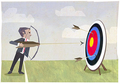 Archer Digital Art - Archery by Steve Dininno