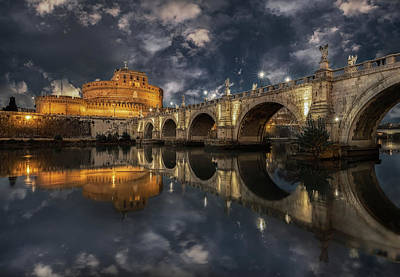 Arch Photograph - Arches And Clouds. by Massimo Cuomo