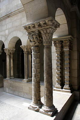 Arches And Columns - Cloister Nyc Art Print by Christiane Schulze Art And Photography