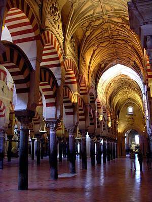 Photograph - Arches And Pillars Of Mezquita by Jacqueline M Lewis