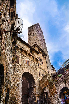 Photograph - Arches And Towers In San Gimignano by Dany Lison