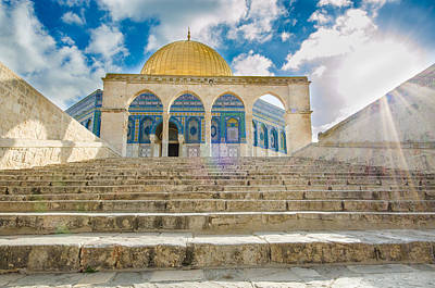 Photograph - Arches At Dome Of The Rock by David Morefield