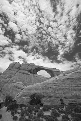 Photograph - Arches Black And White by Tom Kelly