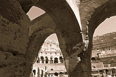 Arches In The Colosseum Art Print