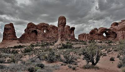 Photograph - Arches Landscape Panorama by Benjamin Yeager