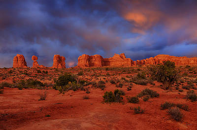Photograph - Arches Last Light by Greg Norrell