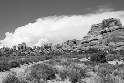 Photograph - Arches National Park 12 Bw by Mary Bedy
