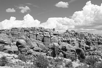 Photograph - Arches National Park 13 Bw by Mary Bedy