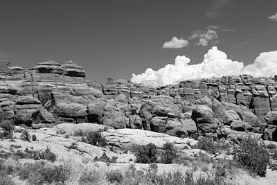 Photograph - Arches National Park 14 Bw by Mary Bedy