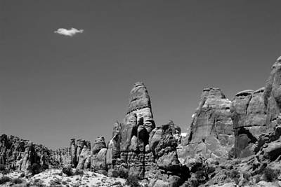Photograph - Arches National Park 16 Bw by Mary Bedy