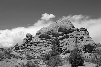 Photograph - Arches National Park 23 Bw by Mary Bedy