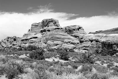 Photograph - Arches National Park 25 Bw by Mary Bedy