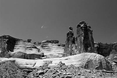 Photograph - Arches National Park 3 Bw by Mary Bedy