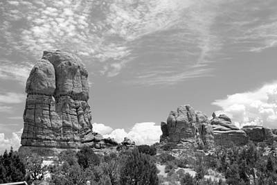 Photograph - Arches National Park 7 Bw by Mary Bedy