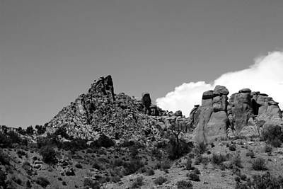 Photograph - Arches National Park 19 Bw by Mary Bedy