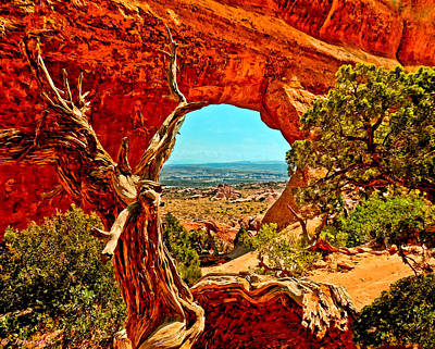 Painting - Arches National Park by Bob and Nadine Johnston