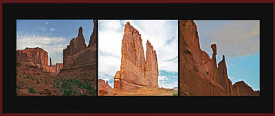 Photograph - Arches National Park Panel by SC Heffner