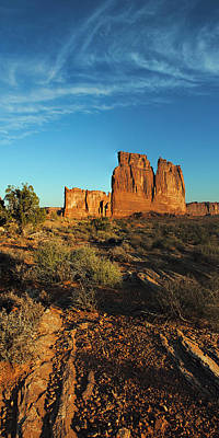 Photograph - Arches Np Courthouse Pan 1 by Jeff Brunton