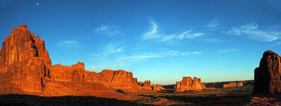 Photograph - Arches National Park Morning Pan 1 by Jeff Brunton