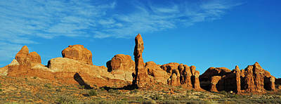 Photograph - Arches Np Morning Pan 3 by Jeff Brunton