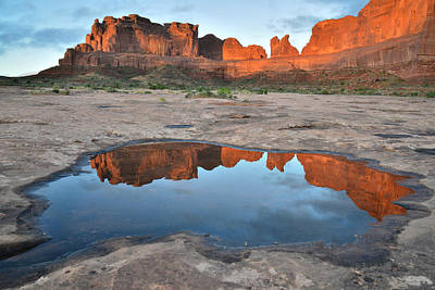 Photograph - Arches Np Sunrise by Ray Mathis