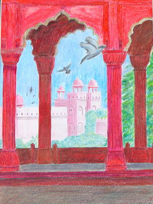 Drawing - Arches Of India by Artistic Indian Nurse