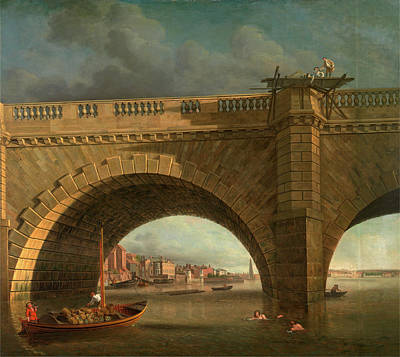 Tankard Painting - Arches Of Westminster Bridge Westminster Bridge by Litz Collection