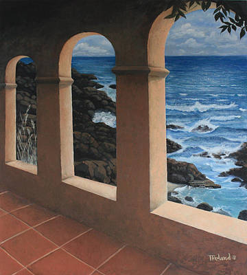 Arches Over The Ocean Art Print