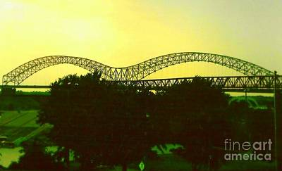 Arches Towards Little Rock And Memphis Art Print by Michael Hoard