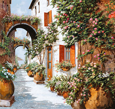 Red Sky Wall Art - Painting - Archi E Orci by Guido Borelli