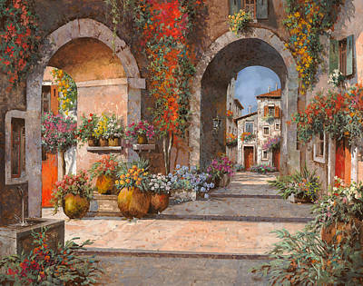 Village Painting - Archi E Sotoportego by Guido Borelli