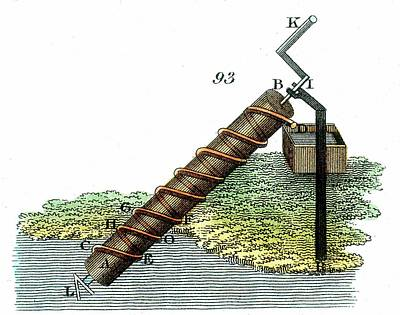 Raising Photograph - Archimedes' Screw by Universal History Archive/uig