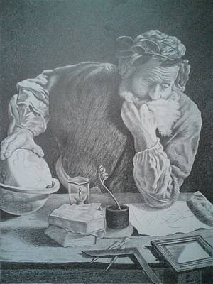 Drawing - Archimedes by Zdzislaw Dudek